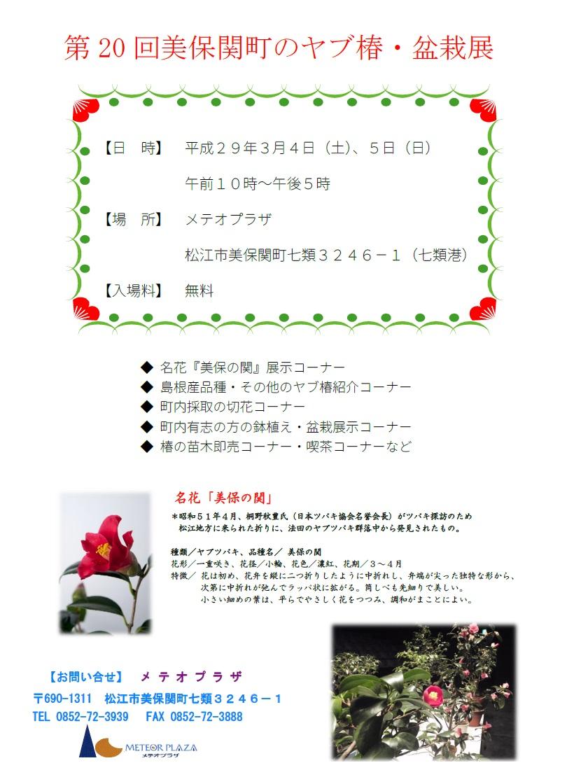 椿展(2017年ちらし)